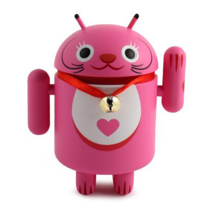 Android Lucky Cat (pink) - superchan.de