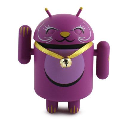 Android Lucky Cat (lila) - superchan.de