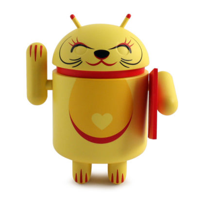Android Lucky Cat (yellow) - superchan.de