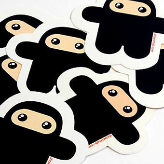 Ninjatown Wee Ninja (Vinyl Sticker) - superchan.de