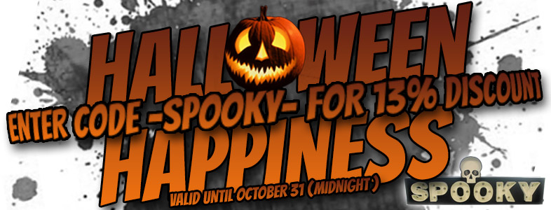 Halloween Happiness - 13% on everything!