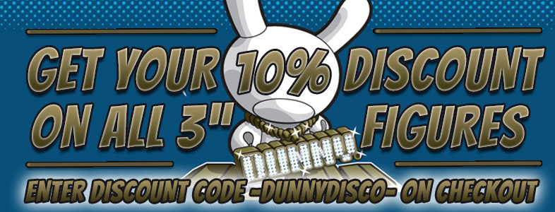 "10% Discount on all 3"" Dunny Figures by Kidrobot"
