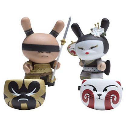 Dunny Gold Life - Kabuki & Kitsune 2-Pack (schwarz) - superchan.de