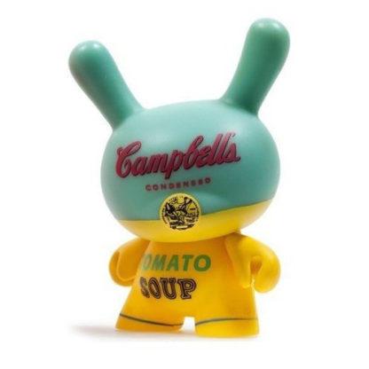 Dunny Warhol S2 - Campbells (mint/yellow) - superchan.de