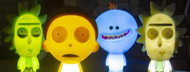 Rick & Morty Lampen von Paladone