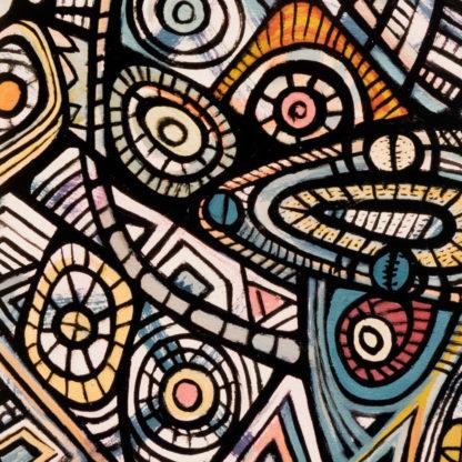 Artprint Joseph Amedokpo - In the city of the blind (75 × 75cm) Detail