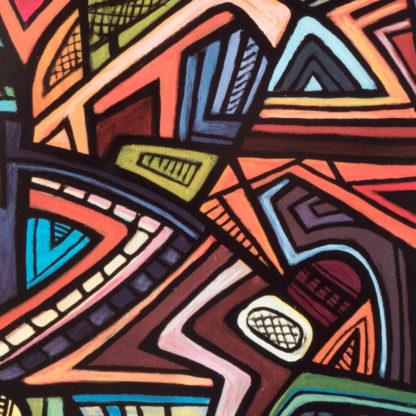 Artprint Joseph Amedokpo - The ogun shrine (70 × 75cm) Detail
