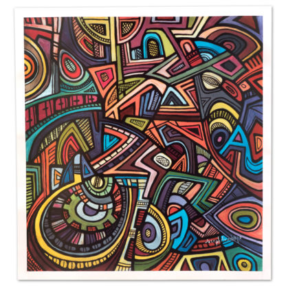 Artprint Joseph Amedokpo - The ogun shrine (70 × 75cm)