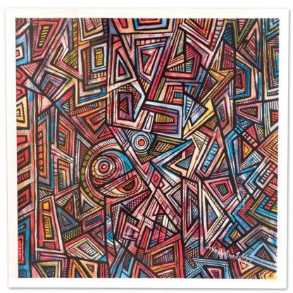 Artprint Joseph Amedokpo - Africa and Gods (75 × 75cm)