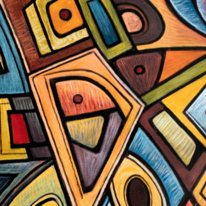 Artprint Joseph Amedokpo - Magic Trouble (70 × 100cm) Detail