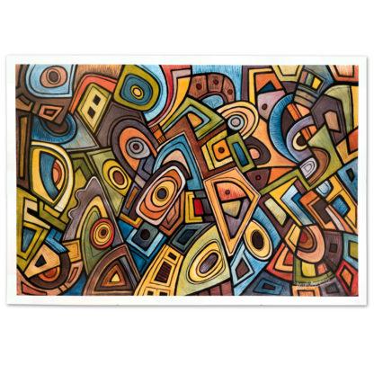 Artprint Joseph Amedokpo - Magic Trouble (70 × 100cm)