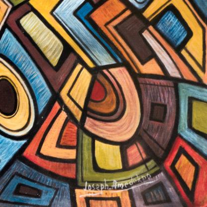 Artprint Joseph Amedokpo - Magic Trouble (70 × 100cm) Signature