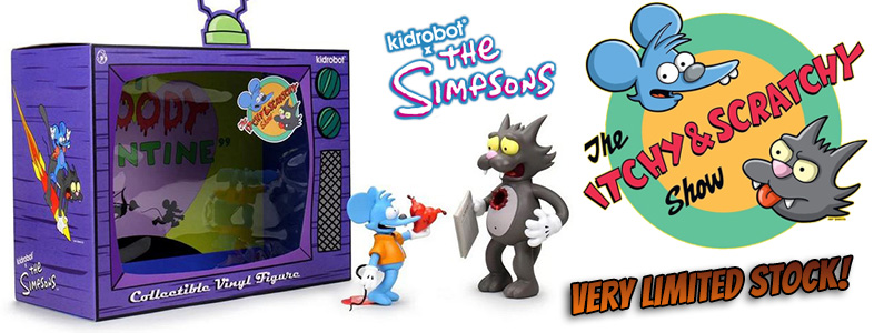 Kidrobot x The Simpsons – Itchy and Scratchy: My bloody Valentine SET