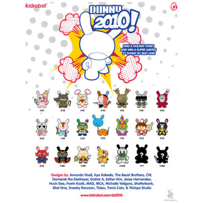 Kidrobot Dunny Series 2010 Case Poster