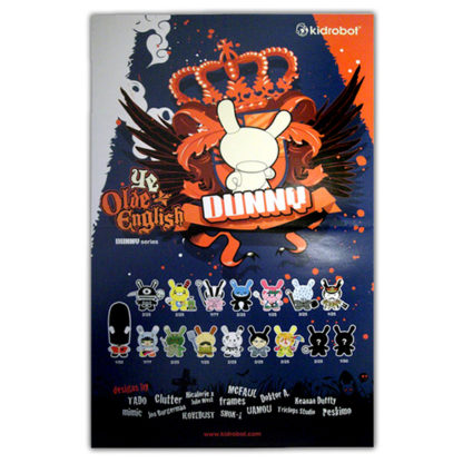 Kidrobot Dunny UK Series Poster