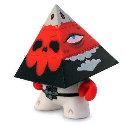 Kidrobot-Pyramidun-Dunny-red