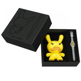 Kidrobot x Swatch: Tennis Pro Dunny & Watch by Frank Kozik