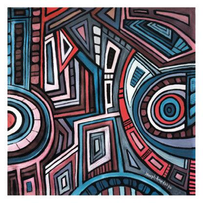 Artprint Joseph Amedokpo - The godess of the tree (75 × 75cm)