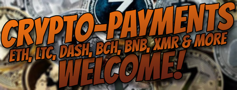 Crypto-Payments welcome!