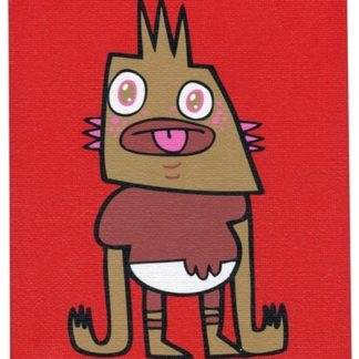 Jon Burgerman - Mini Canvas: Buggles